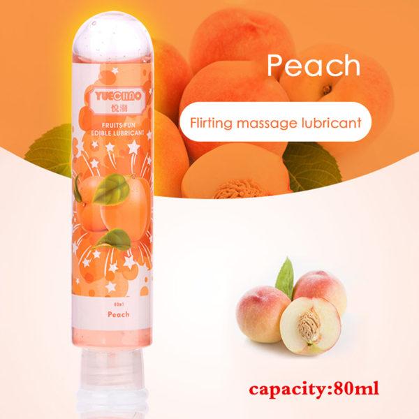 80ml Fruit Flavor Sex Lubricant Orgasm Body Massage Oil